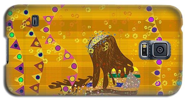 Galaxy S5 Case featuring the digital art Maya Prays by Kim Prowse