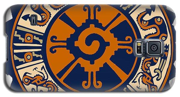 Galaxy S5 Case featuring the digital art Mayan Hunab Ku by Vagabond Folk Art - Virginia Vivier