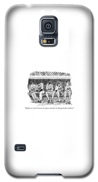 Sport Art Galaxy S5 Case - Maybe We Weren't Meant To Express Ourselves by Robert Weber