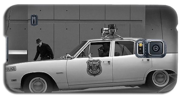 Galaxy S5 Case featuring the photograph Mayberry Meets Seattle - Vintage Police Cruiser by Jane Eleanor Nicholas