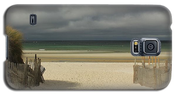 Galaxy S5 Case featuring the photograph Mayflower Beach Storm by Amazing Jules