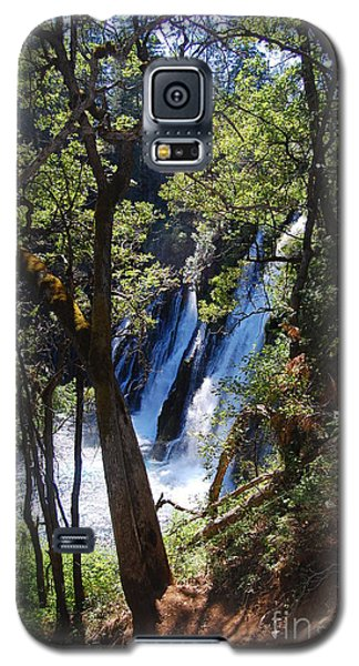 Galaxy S5 Case featuring the photograph Mcarthur-burney Falls Side View by Debra Thompson