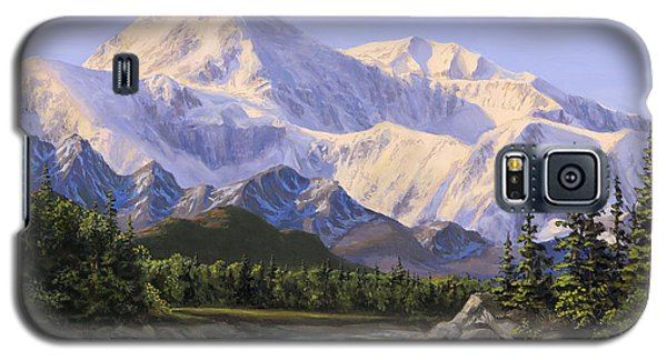 Majestic Denali Mountain Landscape - Alaska Painting - Mountains And River - Wilderness Decor Galaxy S5 Case