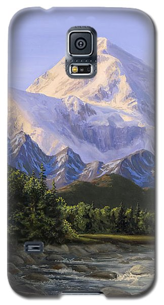 Majestic Denali Alaskan Painting Of Denali Galaxy S5 Case by Karen Whitworth