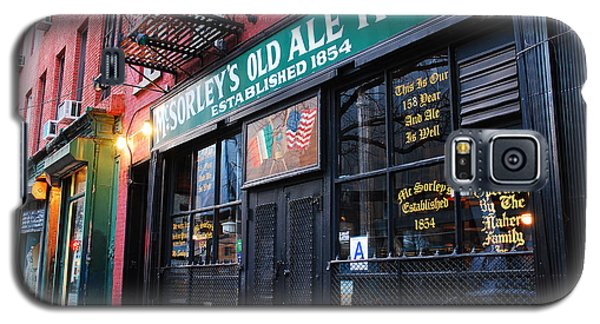 Galaxy S5 Case featuring the photograph Mcsorley's Old Ale House by James Kirkikis