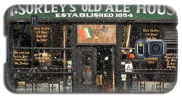 Mcsorley's Old Ale House During A Snow Storm Galaxy S5 Case