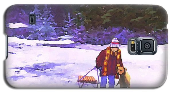 Galaxy S5 Case featuring the painting Me And My Buddy by Sophia Schmierer