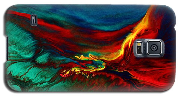 Meaningful Art-flying Above Modern Abstract Colorful Art By Kredart  Galaxy S5 Case