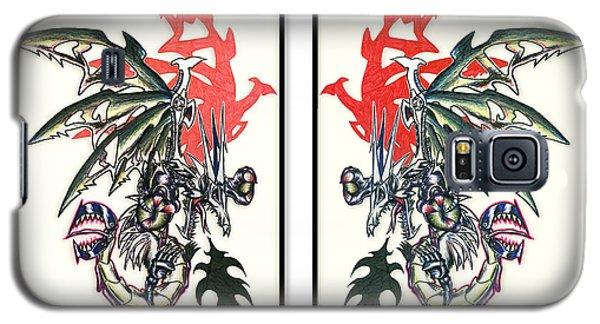 Mech Dragons Collide Galaxy S5 Case