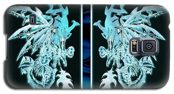 Mech Dragons Diamond Ice Crystals Galaxy S5 Case by Shawn Dall