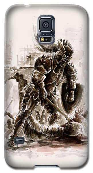 Dungeon Galaxy S5 Case - Medieval Knight by Mariusz Szmerdt