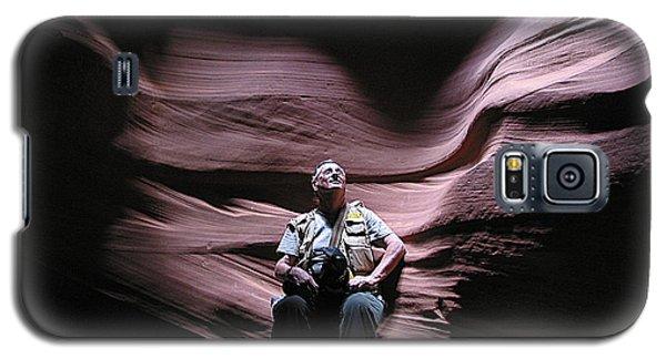 Meditating In Antelope Slot Canyon Arizona Galaxy S5 Case