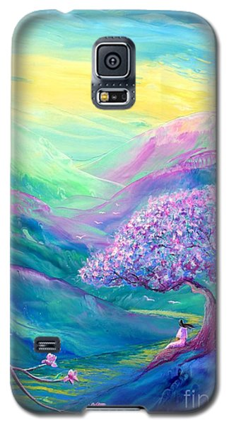 Magnolia Galaxy S5 Case - Meditation In Mauve by Jane Small