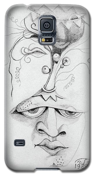 Meditation On The Crown Chakra Or Where Is Your Mind Going Surrealistic Fantasy Of Face With Energy  Galaxy S5 Case