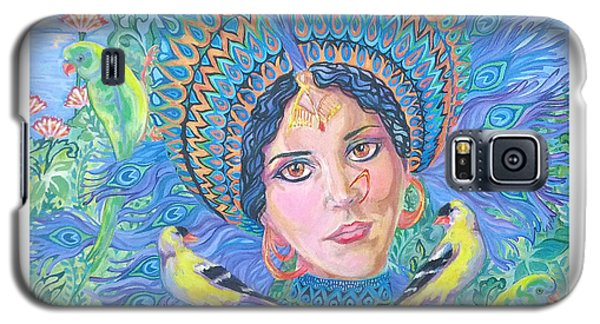 Galaxy S5 Case featuring the painting Meditation by Suzanne Silvir