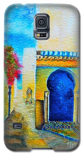 Galaxy S5 Case featuring the painting Mediterranean Medina by Ana Maria Edulescu