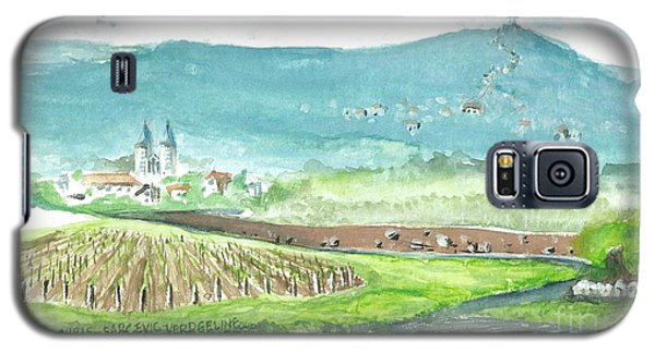 Galaxy S5 Case featuring the painting Medjugorje Fields by Christina Verdgeline