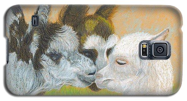 Galaxy S5 Case featuring the drawing Meeting Uncle Al by Carol Wisniewski