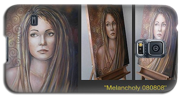 Galaxy S5 Case featuring the painting Melancholy 080808 Comp by Selena Boron