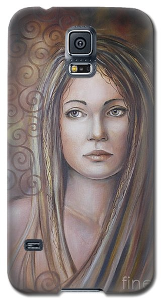 Galaxy S5 Case featuring the painting Melancholy 080808 by Selena Boron