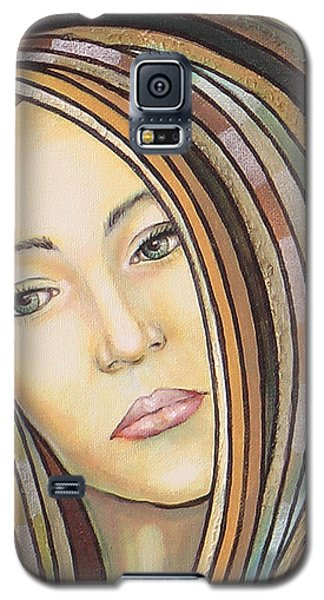 Galaxy S5 Case featuring the painting Melancholy 300308 by Sylvia Kula