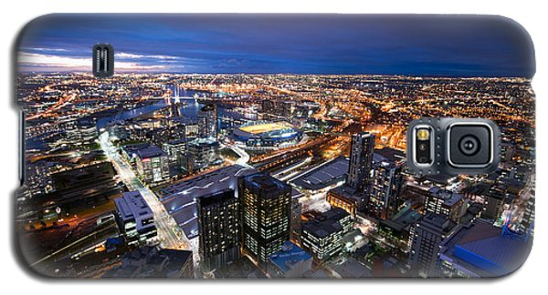 Melbourne At Night Galaxy S5 Case