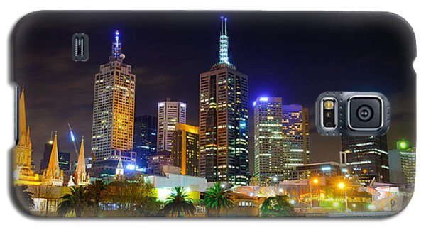 Melbourne City Skyline - Skyscapers And Lights Galaxy S5 Case