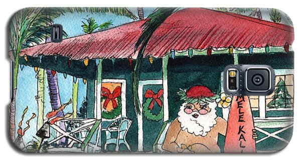 Mele Kalikimaka Hawaiian Santa Galaxy S5 Case