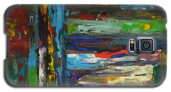 Galaxy S5 Case featuring the painting Melted Crayons by Everette McMahan jr