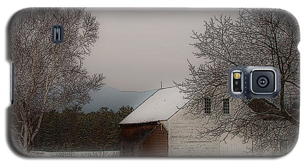 Galaxy S5 Case featuring the photograph Melvin Village Barn In Winter by Brenda Jacobs