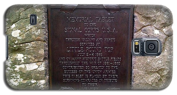 Memorial Tablet To Signal Corps U.s.a. Galaxy S5 Case by Amazing Photographs AKA Christian Wilson