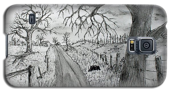 Galaxy S5 Case featuring the drawing Memory Road by Jack G  Brauer