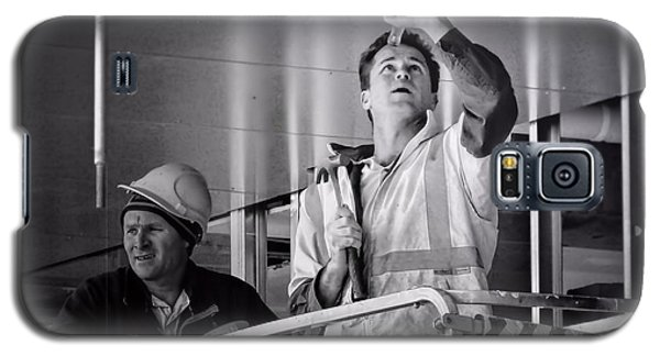 Galaxy S5 Case featuring the photograph Men At Work by Wallaroo Images