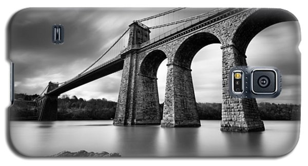 Menai Suspension Bridge Galaxy S5 Case by Dave Bowman