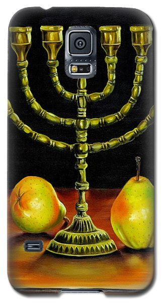 Menorah And Pears Galaxy S5 Case by Phyllis Beiser