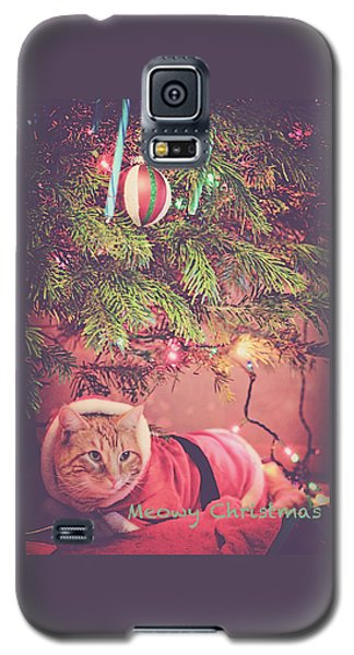 Meowy Christmas Galaxy S5 Case by Melanie Lankford Photography
