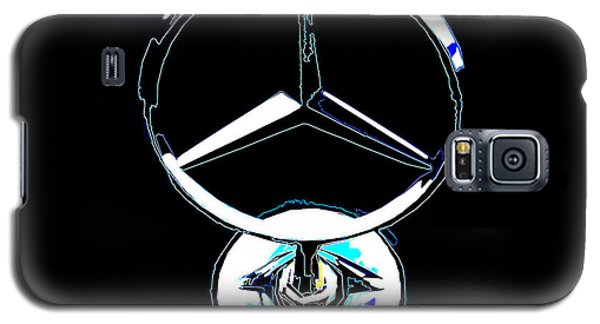 Galaxy S5 Case featuring the photograph Mercedes Logo 2 by Samuel Sheats