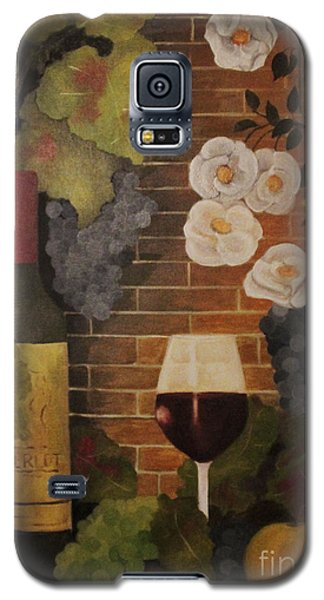 Galaxy S5 Case featuring the painting Merlot For The Love Of Wine by John Stuart Webbstock