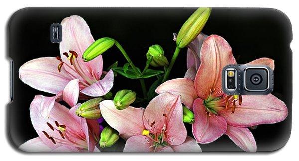 Merlot Lilies Galaxy S5 Case by Jp Grace