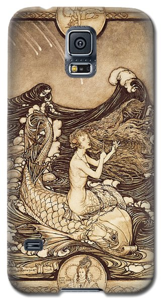 Mermaid And Dolphin From A Midsummer Nights Dream Galaxy S5 Case by Arthur Rackham