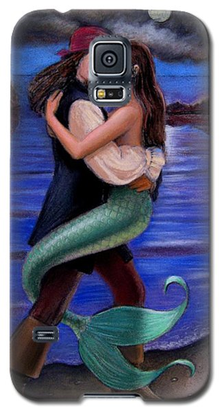 Mermaid And Pirate's Caribbean Love Galaxy S5 Case by Sue Halstenberg