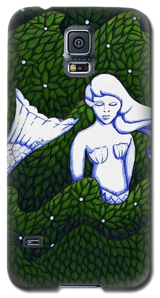Galaxy S5 Case featuring the mixed media Mermaid At The Garden by Donna Huntriss