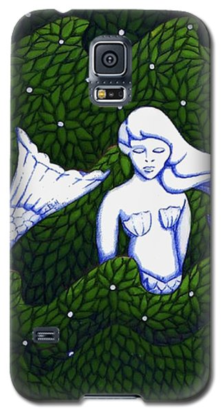 Mermaid At The Garden Galaxy S5 Case by Donna Huntriss