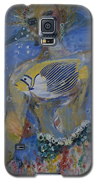 Galaxy S5 Case featuring the painting Mermaid by Avonelle Kelsey