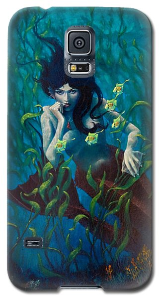Galaxy S5 Case featuring the painting Mermaid by Rob Corsetti