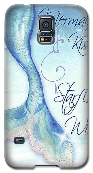 Mermaid Galaxy S5 Case - Mermaid Tail I (kisses And Wishes) by Elizabeth Medley