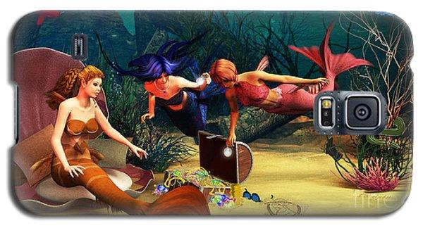 Mermaid Treasures Galaxy S5 Case by Methune Hively