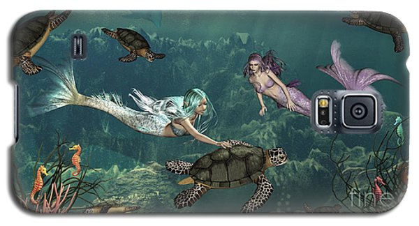 Mermaids At Turtle Springs Galaxy S5 Case by Methune Hively