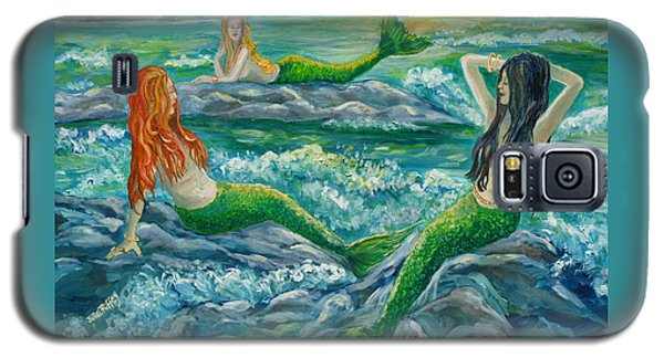 Mermaids On The Rocks Galaxy S5 Case by Julie Brugh Riffey
