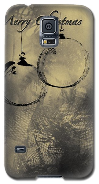 Galaxy S5 Case featuring the mixed media Merry Christmas Card by Peter v Quenter